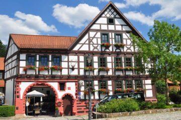 Hotelgasthaus im Fachwerkstil