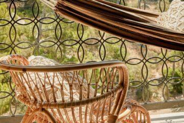 Close up Hängematte und Stuhl