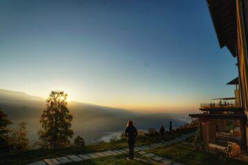 Sonnenaufgang vom Haus aus