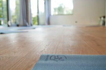 Yogamatte mit Om-Zeichen