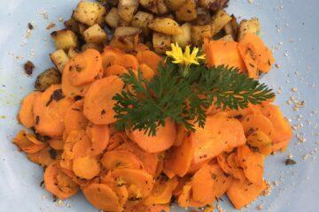 Kartoffeln mit Möhrengemüse