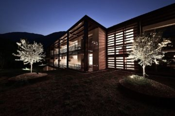 Haus beleuchtet