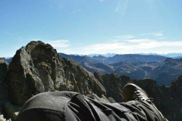 Blick über Berggipfel