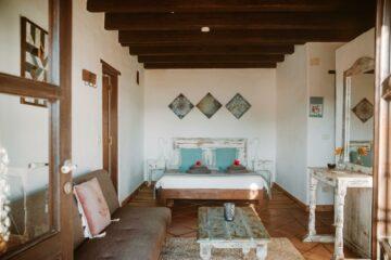 Wohnraum mit Möbeln im shabby Look