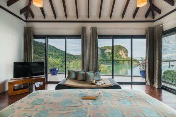 Hill Top Villa Aussicht vom Bett