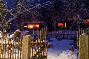 Häuser mit Licht